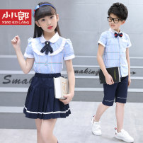 School uniform / school uniform customization Men's blue, women's blue, 8101 women's blue, 8101 men's blue, 8101 women's pink, 8101 men's pink, 8101 women's blue white skirt, 8101 men's blue white pants, 8101 women's pink white skirt, 8101 men's pink white pants neutral Other / other summer college