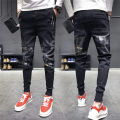 Jeans Youth fashion Lien noos / Renault deer S M L XL 2XL Thin money Micro bomb Thin denim B513 Ninth pants Cotton 77% polyester 22% polyurethane elastic fiber (spandex) 1% summer teenagers Medium low back Slim feet tide 2019 Pencil pants zipper Three dimensional tailoring Summer of 2019
