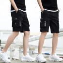 Casual pants Lien noos / Renault deer Youth fashion S M L XL 2XL 3XL thin Shorts (up to knee) Other leisure easy K505 summer teenagers tide 2019 middle-waisted Straight cylinder Cotton 95% other 5% Overalls Pocket decoration washing Solid color Fine canvas Summer of 2019 Pure e-commerce (online only)