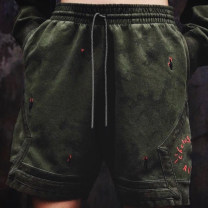 Casual pants Youth fashion Army green S,M,L,XL routine Shorts (up to knee) Other leisure easy Micro bomb summer teenagers 2020 middle-waisted Straight cylinder Sports pants Embroidery Non brand