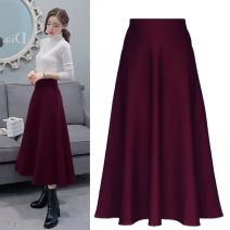 skirt Summer 2020 S,M,L,XL,XXL,XXXL Black with pockets [twisted Roman], jujube with pockets [twisted Roman] longuette High waist A-line skirt 30% and below Solid color