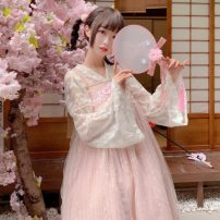 Dress Summer 2021 Average size Mid length dress Two piece set Long sleeves Sweet High waist Socket Princess Dress Others Type A Other / other Lolita