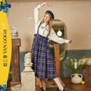 skirt Spring 2021 S M L lattice Mid length dress Retro High waist Strapless skirt lattice Type A 18-24 years old S21CKBO11 More than 95% Two or three things cotton Pocket strap Cotton 100% Same model in shopping mall (sold online and offline)