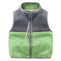 Vest male spring and autumn routine No model Single breasted leisure time Fleece other 2, 3, 4, 5, 6, 7, 8, 9, 10, 11, 12 years old