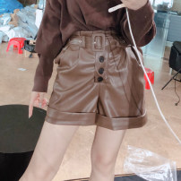Casual pants Brown (for belt), black (for belt) S,M,L,XL Autumn 2020 shorts High waist routine AMY0543 Other / other