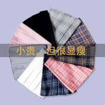 skirt Autumn of 2019 XS S M L XL 2XL Short skirt commute High waist A-line skirt lattice Type A More than 95% Congealing astringency other zipper Other 100% Pure e-commerce (online only)