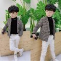 Suit / Blazer Retro lattice clip cotton pre-sale thousand bird lattice spot thousand bird lattice clip cotton pre-sale 100cm 110cm 120cm 140cm 150cm Moonyanne / Muyan male There are models in the real shooting Korean version spring and autumn lattice Single breasted routine Cotton blended fabric