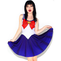 Dress Summer of 2019 TLY1047,TLY1051,TLY1053 Average size Short skirt singleton  Sleeveless Sweet Crew neck Elastic waist Cartoon animation Socket Big swing camisole 25-29 years old Type H TLY 81% (inclusive) - 90% (inclusive) other polyester fiber princess