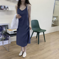 Dress Summer 2021 Apricot, orange, green, blue, black Average size Mid length dress singleton  Sleeveless commute Loose waist Solid color Socket Big swing other camisole 18-24 years old Korean version 51% (inclusive) - 70% (inclusive) other other