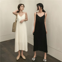 Dress Spring 2021 Apricot, black Average size singleton  Sleeveless commute Solid color Socket other camisole 18-24 years old Other / other Korean version 31% (inclusive) - 50% (inclusive) other other