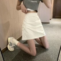 skirt Summer 2021 S,M,L White, pink, black Short skirt commute High waist skirt Solid color Type A 18-24 years old 31% (inclusive) - 50% (inclusive) Korean version