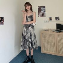 Dress Spring 2021 Black suit, apricot suit, coffee dress, black dress Average size longuette Sleeveless commute 18-24 years old Korean version 51% (inclusive) - 70% (inclusive)