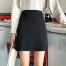 skirt Autumn 2020 S,M,L black Short skirt Versatile High waist A-line skirt Solid color Type A 18-24 years old 31% (inclusive) - 50% (inclusive)