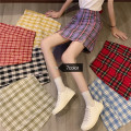 skirt Spring 2021 S,M,L Purple, red, green, blue, yellow, black, dark red Short skirt commute High waist other lattice Type A 18-24 years old 31% (inclusive) - 50% (inclusive) other Korean version