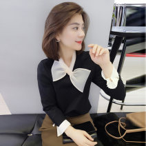 shirt Black Pink Blue S M L XL Spring 2021 polyester fiber 96% and above Long sleeves commute Regular other other routine Solid color 25-29 years old Straight cylinder bobowaltz Simplicity B191y00200p113 Polyester 100% Pure e-commerce (online only)