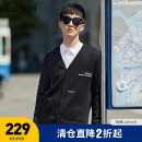 T-shirt / sweater CABBEEN / Carbene Youth fashion Coal black 01 48/170/M 50/175/L 52/180/XL 54/185/XXL 56/190/XXXL routine Cardigan V-neck Long sleeves autumn Straight cylinder Polyacrylonitrile 70% wool 30% Basic public youth routine letter Autumn of 2019 Regular wool (10 stitches, 12 stitches)