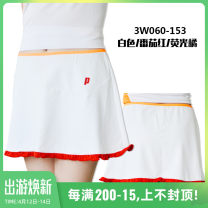 Tennis clothes female Prince white purple skirt (including shorts), Prince orange skirt (including shorts), Prince white skirt (including shorts), Prince white red skirt (including shorts), Prince rose red skirt (including shorts) S,M,L,XL prince Short skirt WP-APW064-012 polyester fiber