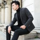 man 's suit Business gentleman dark grey Railsrumble / thunder blue wave thick L LLB-X38 Polyamide fiber (nylon) 44.6% viscose fiber (viscose fiber) 36.7% polyester fiber 17.5% polyurethane elastic fiber (spandex) 1.2% Autumn of 2018 Pure e-commerce (online only)