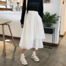 skirt Autumn 2020 Average size Black and white longuette commute High waist A-line skirt Solid color Type A 18-24 years old skm200726-QJ5395 More than 95% Sakami other Asymmetry Korean version Other 100%