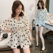 Dress Other / other Short sleeve Korean version Medium and long term summer V-neck shape 118 Chinese Mainland White - pregnant women, white - breast-feeding, [collect baby + pay attention to shop to give small gifts] M,L,XL,XXL