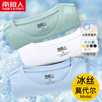 T-shirt Youth fashion routine M L XL 2XL 3XL 4XL 5XL 6XL NGGGN Short sleeve Crew neck easy Other leisure summer NJR2021033101 Modal fiber (modal) 47.3% cotton 47.3% polyurethane elastic fiber (spandex) 5.4% youth routine tide Summer 2021 Solid color No iron treatment Domestic famous brands