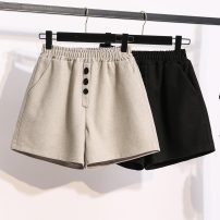 Women's large Winter 2020, autumn 2020 Khaki, black Large XL, large L, m, 2XL, 3XL, 4XL, 5XL trousers singleton  commute thickening Korean version pocket 71% (inclusive) - 80% (inclusive) shorts