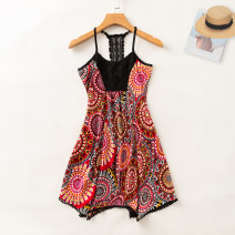 Dress Summer 2020 Red yellow light blue circadian flower S,M,L,XL Mid length dress singleton  Sleeveless commute Crew neck Loose waist Socket A-line skirt other camisole 18-24 years old Type A Allie Aixi Korean version 31% (inclusive) - 50% (inclusive)