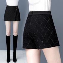 Casual pants black 26/S 27/M 28/L 29/XL 30/2XL 31/3XL Winter 2020 shorts Straight pants High waist commute thickening 91% (inclusive) - 95% (inclusive) other Korean version zipper Polyethylene terephthalate (PET) 95% polyurethane elastic fiber (spandex) 5% Pure e-commerce (online only)