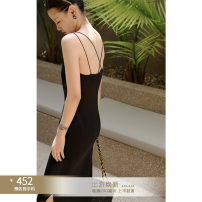 Dress Summer 2021 Dove black, mousse grey, dove black [pre sale], mousse grey [pre sale] S,M,L longuette singleton  Sleeveless commute One word collar Solid color Socket other other camisole 25-29 years old Type H Other / other M21B331101 71% (inclusive) - 80% (inclusive) Cellulose acetate