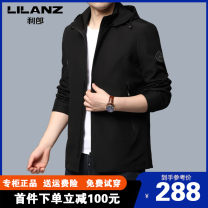 Jacket Lilanz / LiLang Fashion City Black, dark green, khaki 170,175,180,185,190 routine Self cultivation Other leisure spring LL-55284 Polyester 100% Long sleeves Wear out Detachable cap Business Casual middle age routine Zipper placket 2021 Cloth hem No iron treatment Closing sleeve Solid color