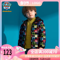 Down Jackets 105cm 110cm 120cm 130cm 140cm 90% White duck down Children and women Paw Patrol / Wangwang team makes great achievements Black printing polyester have cash less than that is registered in the accounts No detachable cap Zipper shirt Cartoon animation 203PS477 Class B Polyester 100%