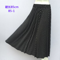 Middle aged and old women's wear Summer of 2018 Skirt length 85cm-1, 85cm-2, 85cm-3, 85cm-4, 85cm-5, 85cm-6, 85cm-7, 85cm-8, 85cm-9, 85cm-10# Elastic waist (can be worn within 3 feet of waist circumference) leisure time skirt easy singleton  Decor thin longuette Pleated skirt