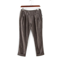 Casual pants coffee S,M,L,XL Autumn of 2018 Cropped Trousers Natural waist commute routine 25-29 years old Other / other other