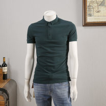 Polo shirt Other / other Fashion City thin White, black, dark green, light blue, pink M,L,XL,2XL,3XL Self cultivation Other leisure summer Short sleeve DHF391 Simplicity in Europe and America routine youth Elastic cotton fiber (70.3% polyurethane) 68.9% 2019 Solid color washing