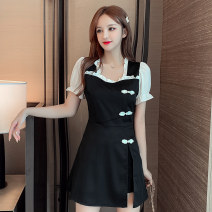 Fashion suit Summer 2021 S for 78 - 95 Jin m is suitable for 95 kg - 105 kg L is suitable for 105 kg - 115 kg XL for 115 kg - 125 kg XXL suits 125 kg - 135 Jin black 25-35 years old Ya makeup PSFS --  nine thousand one hundred and thirty Polyester 55% other 45% Pure e-commerce (online only)