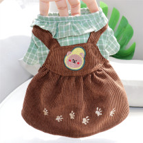 Pet clothing / raincoat currency Dress The length of XS back is 20cm (2-3kg recommended), s back is 25cm (4-5kg recommended), m back is 30cm (6-7kg recommended), l back is 35cm (8-10kg recommended), XL back is 40cm (11-16kg recommended) Other / other princess Yellow, green