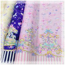 Fabric / fabric / handmade DIY fabric cotton Dream Unicorn (positioning) girl powder, dream Unicorn (positioning) dream blue, dream Unicorn (positioning) off white Cartoon animation 100% Japan