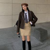 Fashion suit Autumn 2020 S M L average code Skirt shirt suit tie black high socks 18-25 years old Lanoza Triacetate fiber (triacetate fiber) 100%