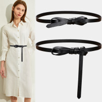 Belt / belt / chain top layer leather Brown red coffee black white Khaki female belt Versatile Single loop Youth Smooth button Glossy surface Glossy surface 3.8cm alone Fonkvxn / wind dancing dust zxz-01003-0645260 Spring 2021 no