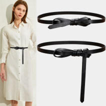Belt / belt / chain top layer leather female belt Versatile Single loop Youth Smooth button Glossy surface Glossy surface 3.8cm alone Fonkvxn / wind dancing dust Spring 2021 no