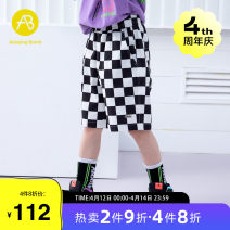trousers AB (mother infant) male 110cm 120cm 130cm 140cm 150cm 160cm Decor summer Pant leisure time There are models in the real shooting Casual pants Leather belt middle-waisted cotton Don't open the crotch Cotton 100% T-A212-001710 Class B Summer 2021