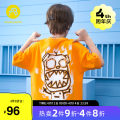 T-shirt orange AB (mother infant) 110cm 120cm 130cm 140cm 150cm 160cm male summer Short sleeve Crew neck leisure time There are models in the real shooting nothing other Cartoon animation Other 100% T-A212-009413 Class B Summer 2021