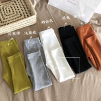 trousers Other / other female 90cm,100cm,110cm,120cm,130cm,140cm White, light gray, black, orange, mustard green spring and autumn trousers Korean version There are models in the real shooting Leggings Leather belt middle-waisted cotton Don't open the crotch Other 100% other Chinese Mainland Hangzhou