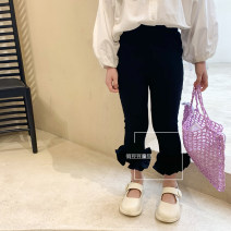trousers Other / other female 90cm,100cm,110cm,120cm,130cm,140cm Black, white spring and autumn Cropped Trousers leisure time There are models in the real shooting Casual pants Leather belt middle-waisted cotton Don't open the crotch Other 100% other Chinese Mainland Zhejiang Province Hangzhou