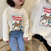 Parent child fashion Off white Women's dress currency Other / other 90cm, 100cm, 110cm, 120cm, 130cm, 140cm, mom's average size spring and autumn Korean version routine Cartoon animation Finished T-shirt cotton Average size Other 100% other Chinese Mainland