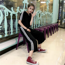 Casual suit Summer 2017 Gray red yellow light green royal blue black light blue pink MLXLXXL 18-25 years old three thousand three hundred and thirty-six Sui Mengjiao 31% (inclusive) - 50% (inclusive) cotton Polyester 66.2% cotton 31.6% polyurethane elastic fiber (spandex) 2.2%