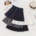 skirt Summer of 2018 S M L XL 2XL 3XL Short skirt Sweet High waist Pleated skirt Solid color Type A 18-24 years old More than 95% brocade Boumanteau polyester fiber Pleated button zipper Polyester 97% polyurethane elastic fiber (spandex) 3% Pure e-commerce (online only) college