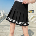skirt Summer 2020 S M L XL 2XL White black Short skirt Sweet High waist Pleated skirt Solid color Type A 18-24 years old Boumanteau-1807-11 brocade Boumanteau Splicing Pure e-commerce (online only) 201g / m ^ 2 (including) - 250G / m ^ 2 (including) college