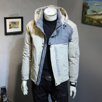 Down Jackets Khaki, grey, black Others White duck down M,L,XL,2XL,3XL,4XL Fashion City Other leisure routine routine 80% Wear out Hood Wear out teenagers Below 100g (excluding) Youthful vigor Closing sleeve Color block 2019 Color matching No iron treatment