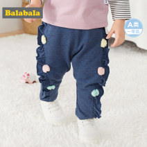 trousers Bala female 73cm 80cm 90cm 100cm Blue tone 0488 medium gray 0020 spring and autumn trousers leisure time No model Casual pants Leather belt middle-waisted Pure cotton (100% content) Open crotch Cotton 100% Class A Autumn of 2019 12 months, 6 months, 9 months, 18 months, 2 years old